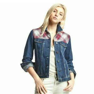 Gap Pendleton Blue Jean Denim Jacket XS Women